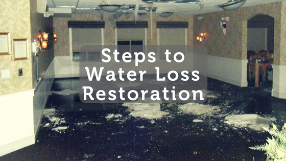 Steps to Water Loss Restoration
