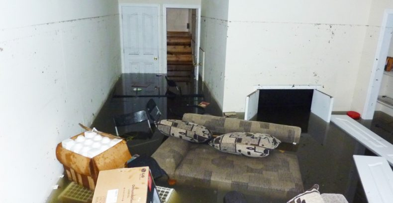 flooded basement damage