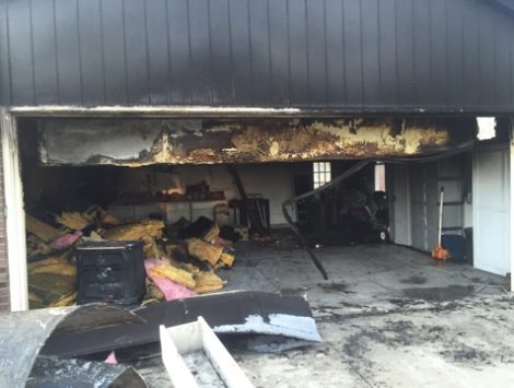 emergency garage fire damage