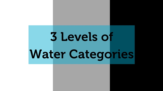 3 levels of water categories