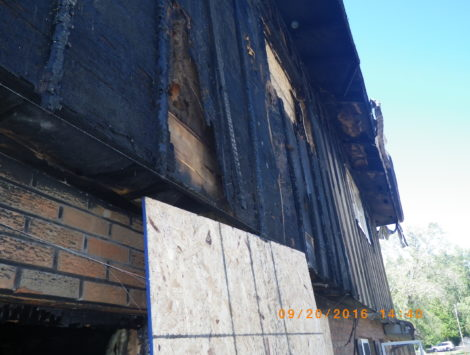 Lima Ohio Fire commercial fire restoration before