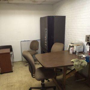 commercial remodel break room before