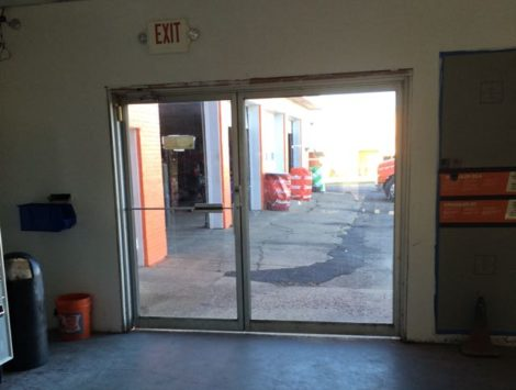 commercial remodel doors before