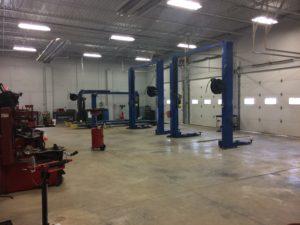 commercial remodel mechanics bay after