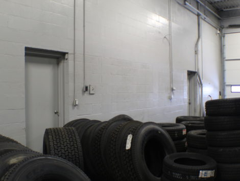 commercial remodel tire room after