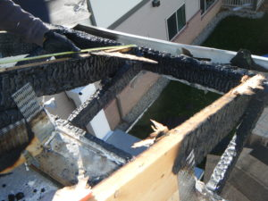 Burned beams in a commercial building are some of the problems you may be facing with fire and smoke damage.