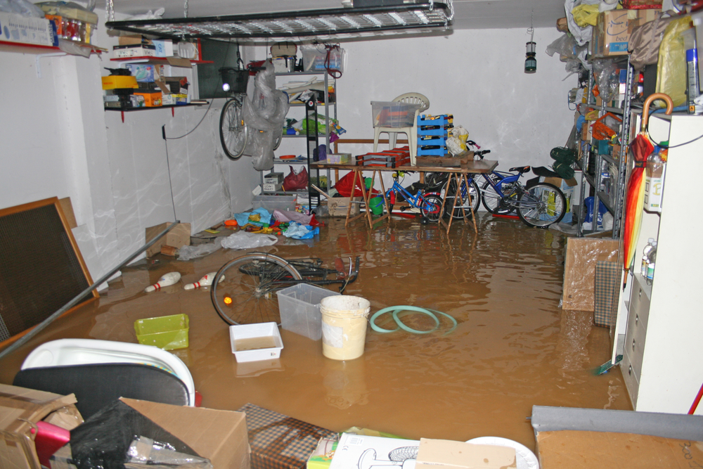A photo of fans during a water damage cleanup. At Swartz Contracting, we can repair damage from floods, burst pipes, or other water issues.