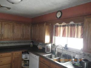 fire damage restoration kitchen before