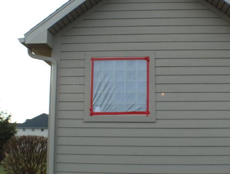 fire damage restoration complete rebuild outside after