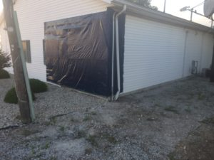vehicle impact restoration outside before