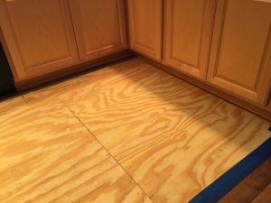 water damage kitchen before