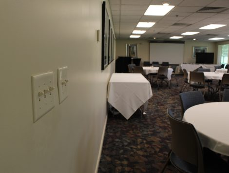 water damage restoration golf course banquet room after