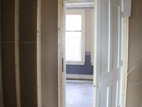 commercial remodel doorways before