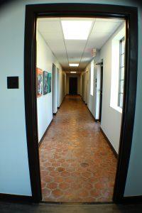 commercial remodel hallway after