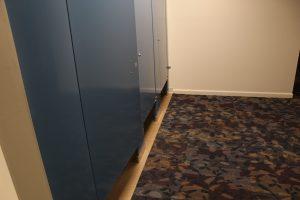 water damage restoration golf course men's locker room after