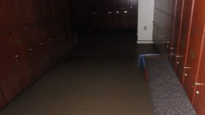 water damage restoration golf course men's locker room before