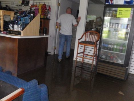 water damage restoration golf course pro shop before