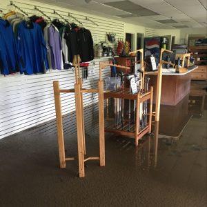 water damage restoration golf course pro shop before