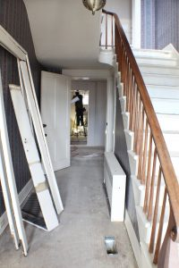 commercial remodel stairs before