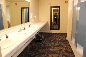 water damage restoration golf course women's locker room after