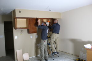 cabinet install commercial remodel