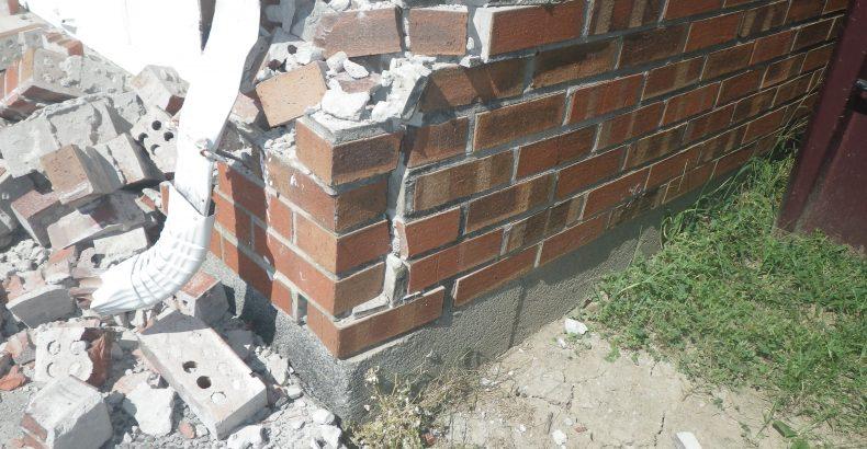 vehicle impact damage to home